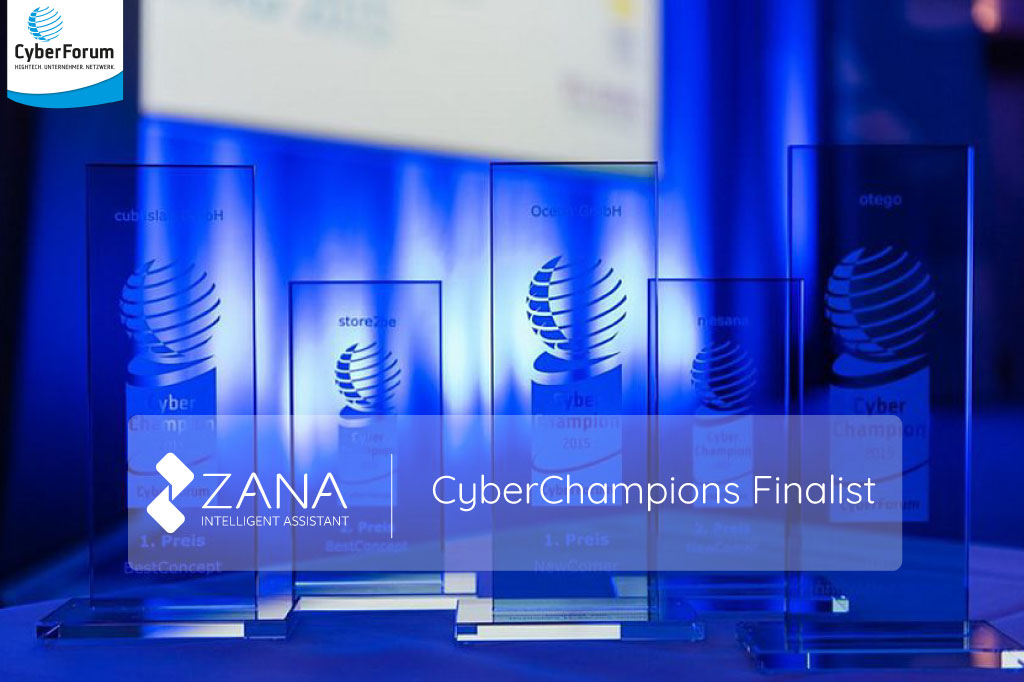 We are happy to announce that Zana has been selected as one of the finalists for the Best Startup challenge in the CyberChampions Awards.