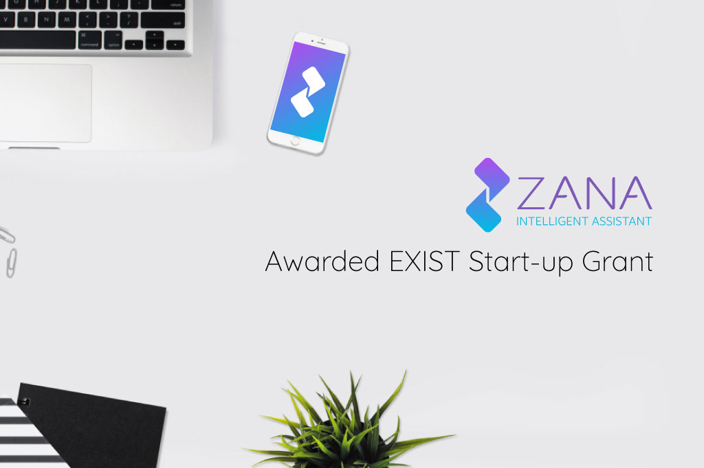 Zana, an Artifical Intelligence-based health assistant, receives support from the German Federal Ministry for Economic Affairs and Energy through EXIST Business Start-up Grant
