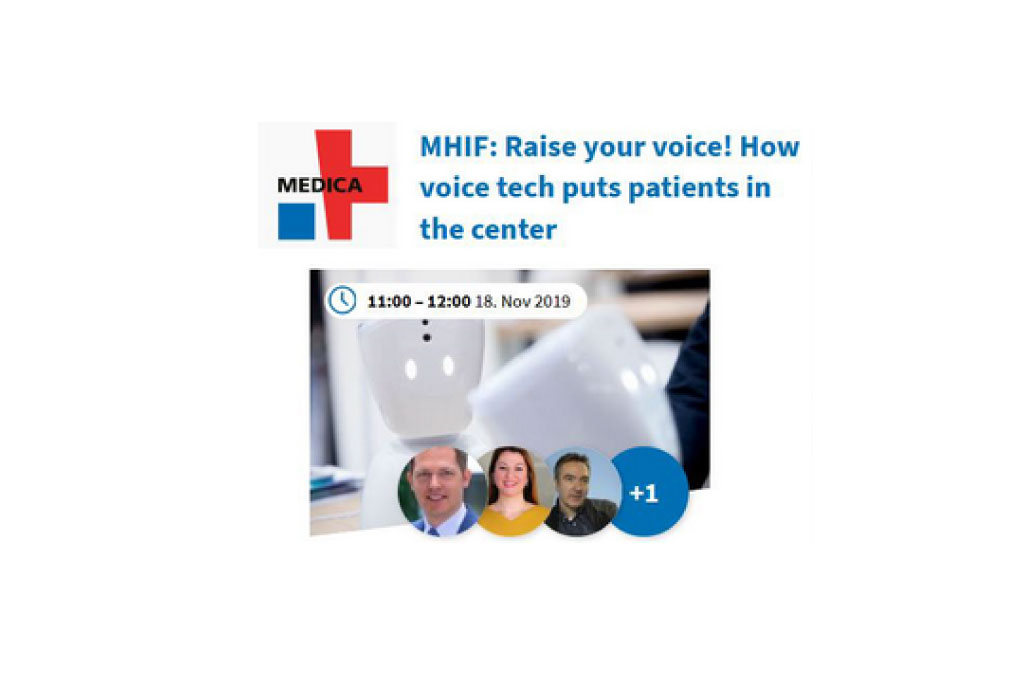 "Zana invited at Medica Health IT Forum Panel on ""Raise your voice! How voice tech puts patients in the center"""