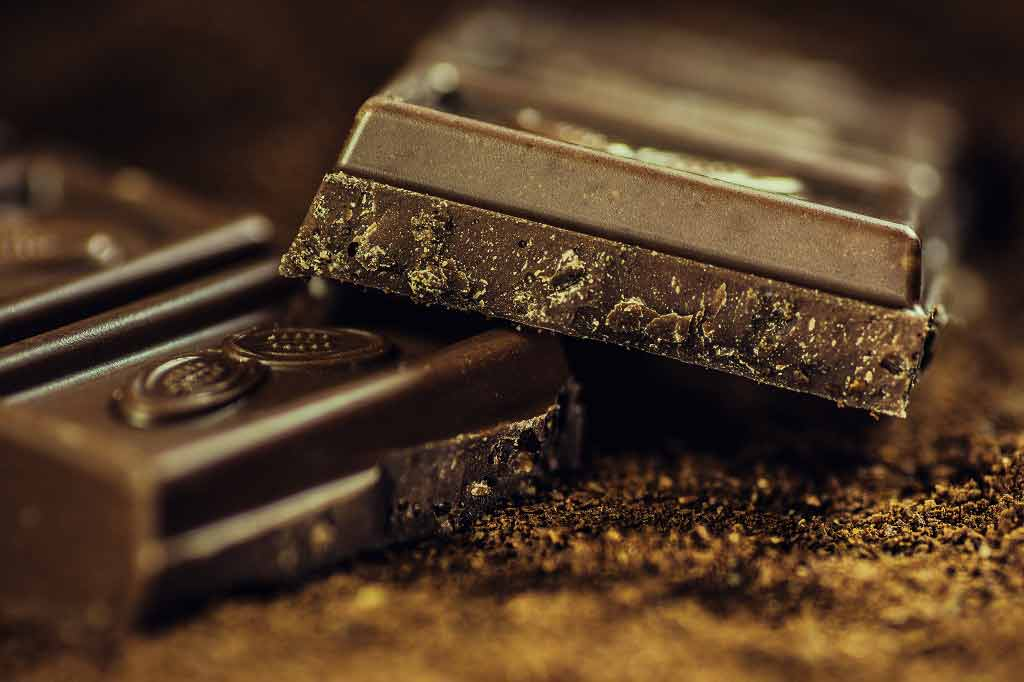 Does eating a few squares of dark chocolate a day improve blood pressure?